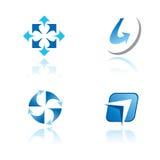 Set grafische Symbole auf abstraktem Thema Stockfoto