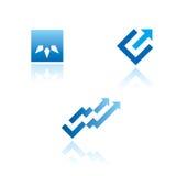 Set grafische Symbole auf abstraktem Thema Lizenzfreies Stockbild