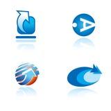 Set grafische Symbole auf abstraktem Thema Lizenzfreie Stockbilder