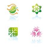 Set grafische Symbole auf Naturthema Lizenzfreie Stockbilder