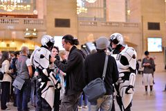 On the Set in Grand Central Stock Photo