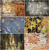 Set of grange rusty textures Royalty Free Stock Photography