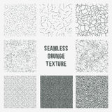 Set of grange seamless patterns. Simple vector scratch textures Stock Images