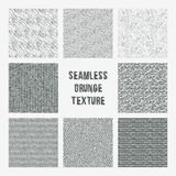 Set of grange seamless patterns. Simple vector scratch textures Royalty Free Stock Photography