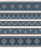 Set granicy, ramy z antycznymi ornamentami Obrazy Royalty Free