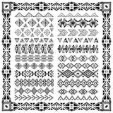 Set granicy w etnicznym plemiennym stylu 30 deseniowych muśnięć inside Zdjęcie Royalty Free