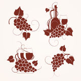 Set of grape design Stock Photography