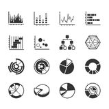Set of graph icons. Eps10 vector format Royalty Free Stock Image