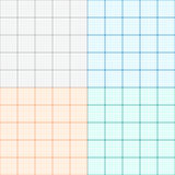 A set of graph paper in four colors. Plotting paper. Vector Stock Photos