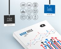 Graph, Sales diagram and Package icons. Report document, Cleaning mop and Shopping signs. Set of Graph, Sales diagram and Package icons. Report document Royalty Free Stock Photos
