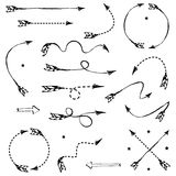 Set of graphic arrows for your design Royalty Free Stock Image
