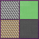Set graphic background, geometric abstract, cube illusion Royalty Free Stock Images