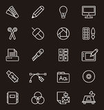 Set of graphic design icons Royalty Free Stock Photos