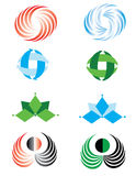 Set of graphic elements. Vector to the logo, business cards. Icons Stock Image