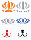 Set of graphic elements. Vector to the logo, business cards. Icons Royalty Free Stock Photos