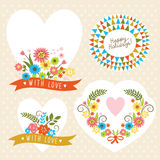 Set of graphic elements for invitation cards Stock Image