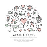 Set of Graphic Elements for Nonprofit Organizations and Donation Centre Royalty Free Stock Photography