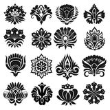 Set of graphic flowers. For design Stock Photo
