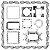 Set of graphic frames Stock Photography