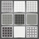 Set of graphic seamless patterns. Illustration. 10 eps Stock Photos