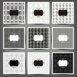 Set of graphic seamless patterns. Illustration. 10 eps Stock Photo