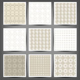 Set of graphic seamless patterns Stock Photos