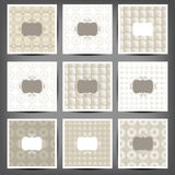 Set of graphic seamless patterns. Illustration. 10 eps stock illustration