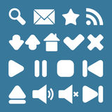 Set of graphic web icons Stock Image
