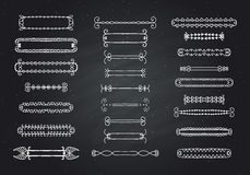 Set of graphical design elements. Stock Images