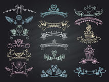 Set of graphical design elements. Royalty Free Stock Photos