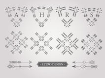 Set of graphical design elements. Royalty Free Stock Images
