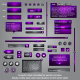 Set of graphical interface web elements Stock Photo