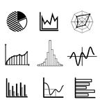 Set of graphs and charts Stock Photography