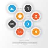 Set Of Graphs, Diagrams And Statistics Icons. Premium Quality Symbol Collection. Icons Can Be Used For Web, App And UI Royalty Free Stock Photos