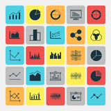 Set Of Graphs, Diagrams And Statistics Icons. Premium Quality Symbol Collection. Icons Can Be Used For Web, App And UI. Set Of Graphs, Diagrams And Statistics Royalty Free Stock Photography