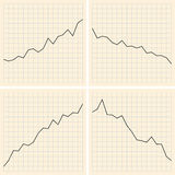 Set of graphs - illustration - vector Stock Photography
