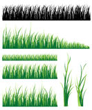 Set of grass Royalty Free Stock Images