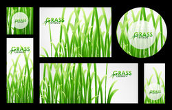 Set of grass banners Royalty Free Stock Images