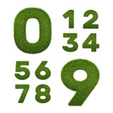 Set of grass numbers  on white Stock Image