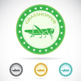 Set of  grasshopper label Royalty Free Stock Photography