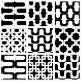 Set of grate mosaic seamless patterns Royalty Free Stock Image