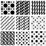 Set of grate seamless patterns with geometric figures, ornamenta Royalty Free Stock Image