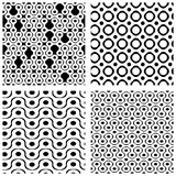 Set of grate seamless patterns with geometric figures, ornamenta Stock Photo