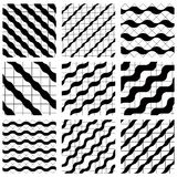Set of grate seamless patterns with geometric figures, ornamenta Stock Images