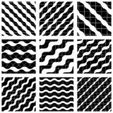 Set of grate seamless patterns with geometric figures Stock Photography