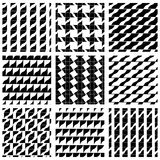 Set of grate seamless patterns with geometric figures Royalty Free Stock Photography