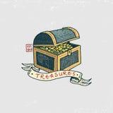Set grawerujący, ręka, etykietki lub odznaki dla corsairs, rysująca, stara, skarby Pirata żołnierz piechoty morskiej, nautyczny i royalty ilustracja
