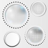 Set Gray Abstract Circle Stock Photo