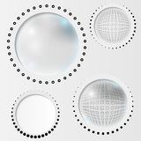 Set gray abstract circle Stock Photo