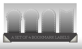 Set of gray bookmark labels Stock Photography